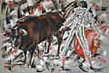 Le torero dans l'action 50x70