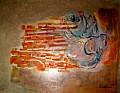 Corbe e conchiglie - 80x65 - Acrilico su faesite