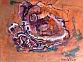 L'eterno ricamo del mare - 68x52 - Acrilico su faesite