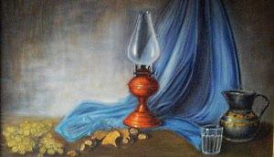 Natura morta con lampada - artista Lina Terzi