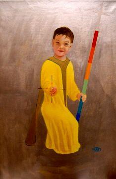 San Michele bambino - benedizione - 105x160