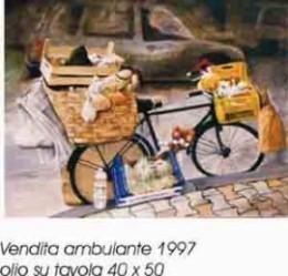 Vendita ambulante - olio su tavola 40x50