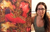 L'artista pittrice Adria Muzzi