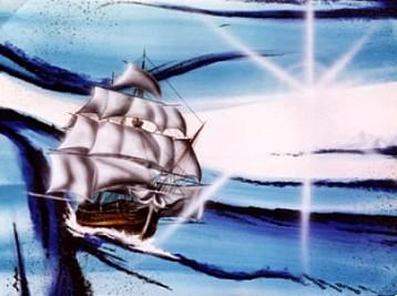 Il mare infinito - Opera del pittore Gianluca De Grossi