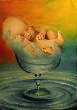 La nascita della vita - Opera dell'artista pittore Sandro Manetti