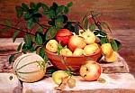 Natura con meloni - 50 x 70 olio