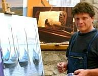 Nicola Cappiello nel suo studio