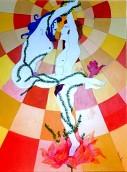 Omaggio a Erté n. 4 Olio su tela 100x70