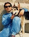Tonino Piantieri con il suo cane Fido