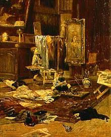 Nello Studio del pittore - Lionello Balestrieri