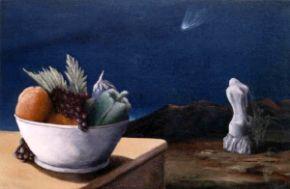 Notte della Cometa con natura morta- 45x60 - opera dell'artista Giovanni Greco