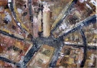 Bologna - spatola e acrilico 50x70
