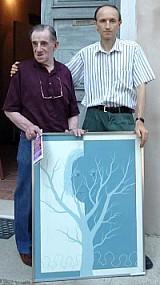 Il maestro Bertelli con il Dr. Bulfarini