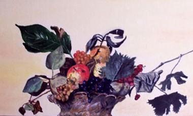 Canestro di frutta - Opera dell'artista Stefano Brocca (omaggio al Caravaggio)