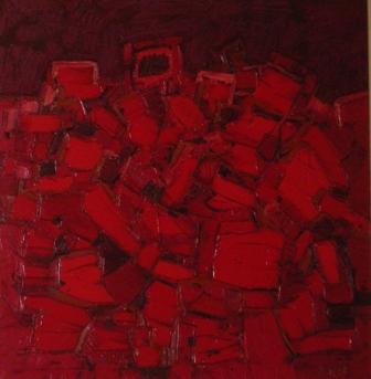 Cromatico rosso - Opera dell'artista Domenico Asmone
