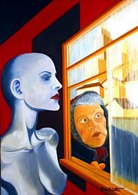 Donna Bleu - Opera dell'artista Aldo Zanetti