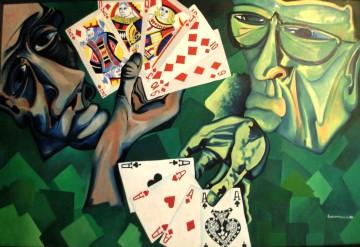 I giocatori di carte - Opera di Valentino Genitrini