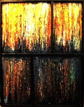 Nella forma il ritmo del colore - Opera dell'artista Valentino Genitrini