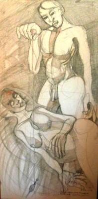 Studio di maternità - Opera dell'artista Valentino Genitrini