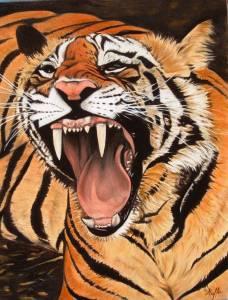La tigre - Opera dell'artista Patrizia Maffei
