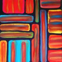 La rabbia - olio su tela, 50x50