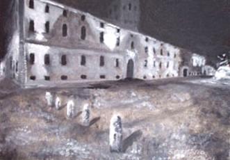 Notte in piazza del Papa - Opera dell'artista Stefano Brocca