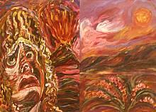 Apettando l'alba del giorno dopo - Opera dell'artista Rosa Spinello