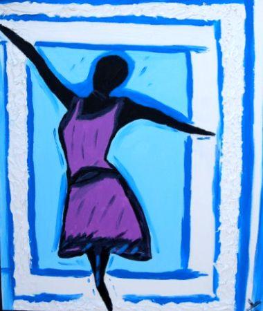 60 Con una cornice di ballerina - 60X70 - Opera di Roberto Breccia