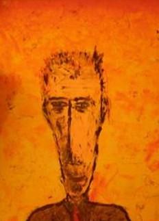 Orange mirror Autoritratto 30x50 Acrilico su tela