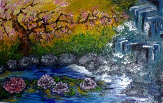 La cascata - Opera dell'artista Annalisa Civicchioni