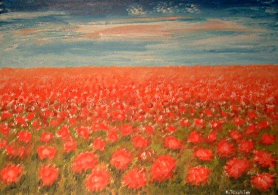 Elirio picchio biografia e opere dell 39 artista pittore for Quadri a olio fiori