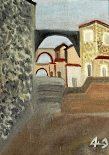 Anquillara Sabazia - opera del pittore Pasquale Bravaccino