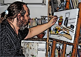Edgardo Colombo nel suo studio