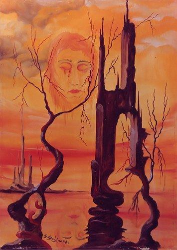 Lacrime di sangue - opera dell'artista Salvatore Gerbino