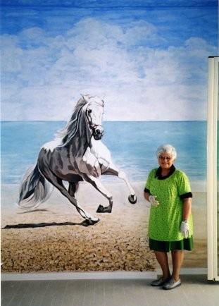 Nanda Rago nella stanza dei cavalli